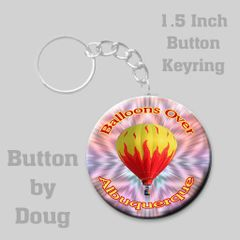 Personalized 1.5 inch round keyring with Hot Air Balloon Graphics #CH548KR