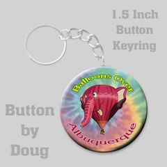 Personalized 1.5 inch round keyring with Hot Air Balloon Graphics #CH456KR