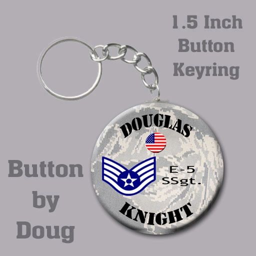 Personalized Air Force Key Ring/Bag Tag 1.5 inch charm #CH526KR