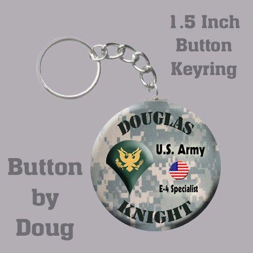Personalized Army Key Ring/Bag Tag 1.5 inch charm #CH505KR