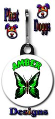 Personalized Butterfly Zipper Pull/Bag Tag