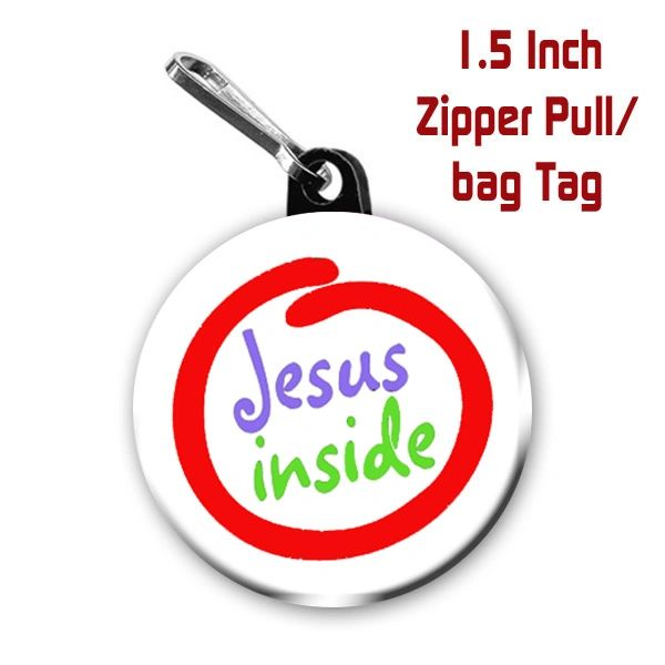 Inspirational Jesus inside button CH316