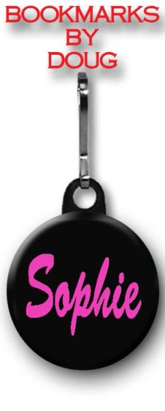 Personalized Black and Pink Zipper Pull/Bag Tag