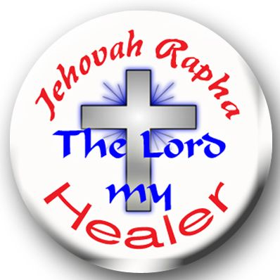 Inspirational Jehovah Rapha button on choice of items CH351