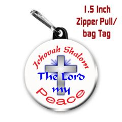 Inspirational Jehovah Shalom button on choice of items CH355