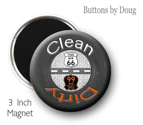 Route 66 Dish Washer Clean Dirty Magnet with Tire Graphics