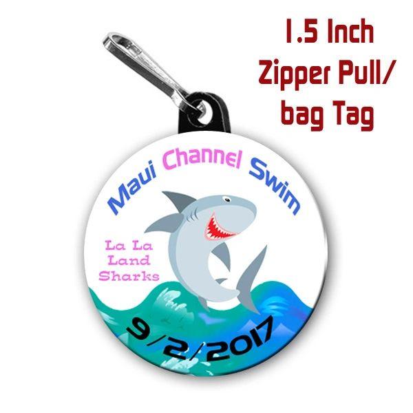 18 Personalized 1.5 inch Zipper Pulls