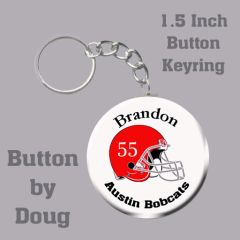 Keyring with Personalized Football Graphics