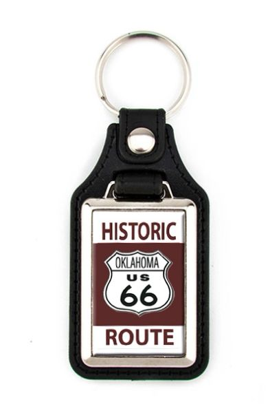Route 66 Key FOB with State Shield