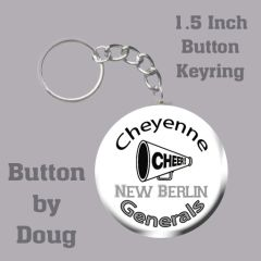 Keyring with Personalized Cheer Graphics