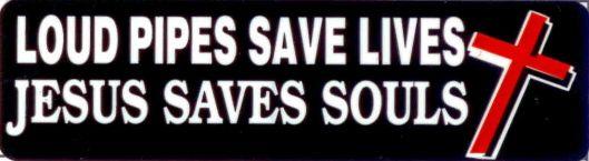 Helmet sticker - Loud pipes saves lives