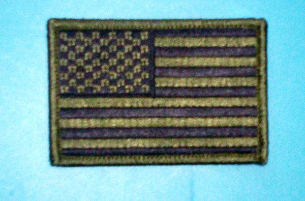 Patch - Subdued green USA flag