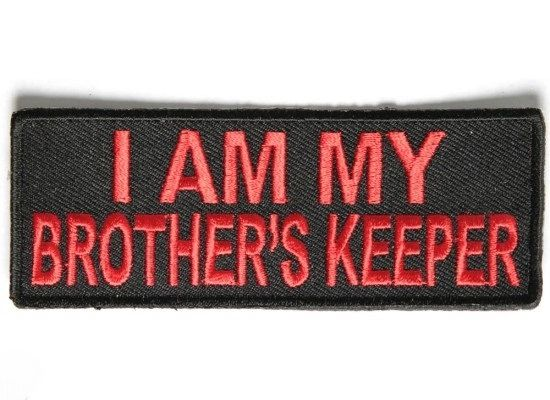Patch - I am my brothers keeper black and red