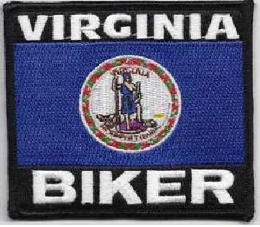 Patch - Virginia Biker flag