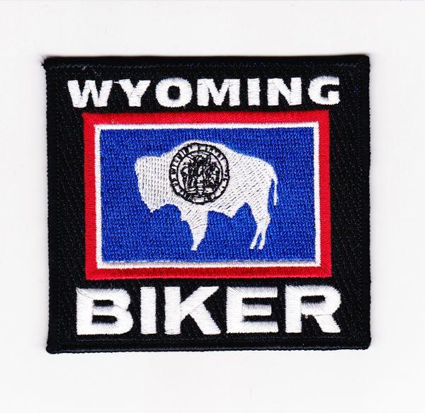 Patch Wyoming biker flag