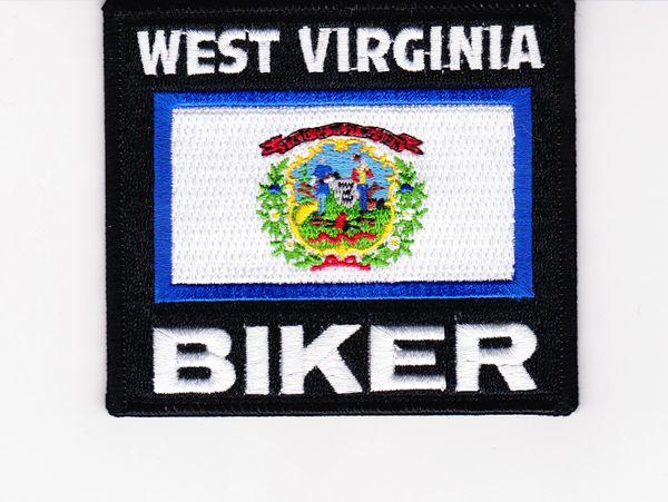 Patch - West Virginia biker flag