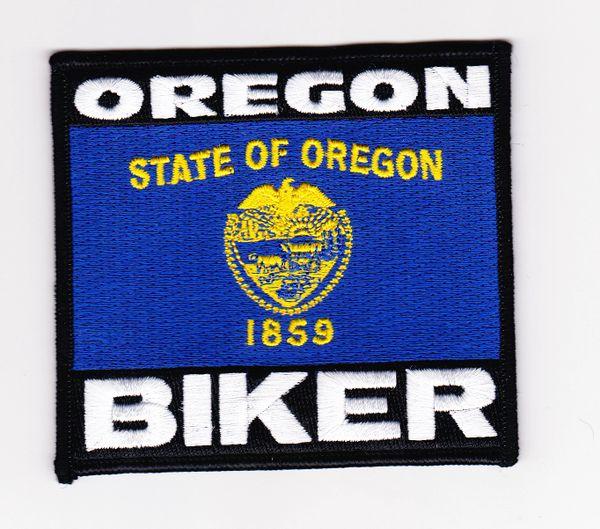 Patch - Oregon biker flag
