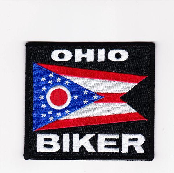 Patch - Ohio biker flag