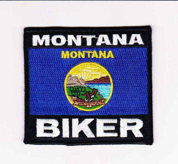 Patch - Montana biker flag