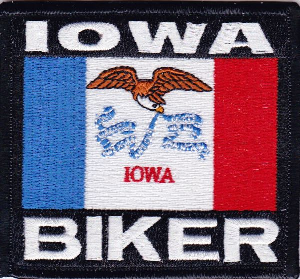 Patch - Iowa biker flag