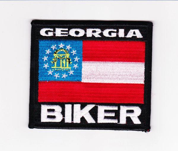 Patch Georgia biker flag