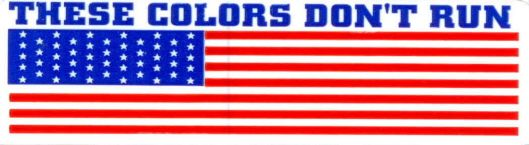 Helmet sticker - AMERICAN FLAG these colors don't run