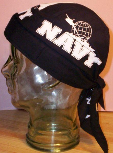 Headwrap - US Navy on black