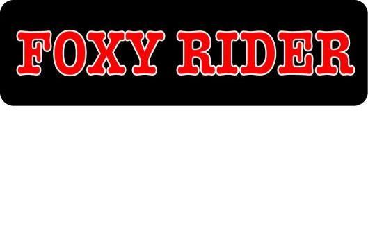 Helmet sticker - foxy rider