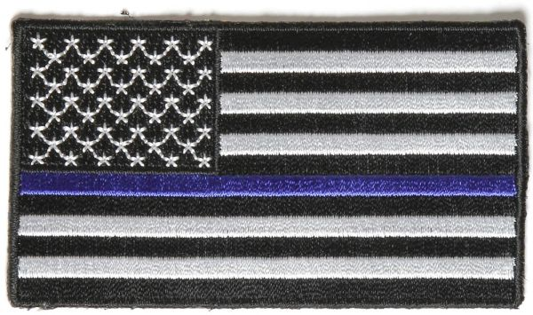 Patch - Subdued US Flag with Blue Stripe