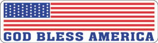 Helmet sticker - God bless America with flag