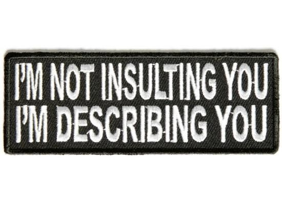 Patch - I'm Not Insulting You I'm Describing You