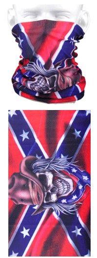Tube mask - rebel flag and skull