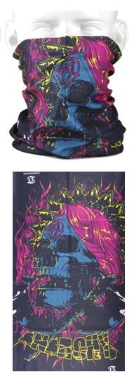 Tube mask - anarchy purple hair skull