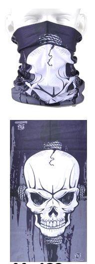 Tube mask - large skull grey