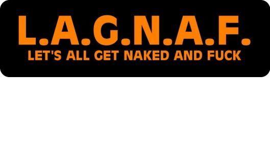 Helmet sticker - L.A.G.N.A.F.