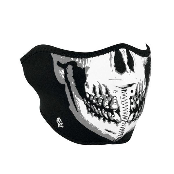 Neoprene half face mask - Skull Face