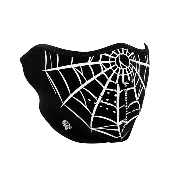 Neoprene half face mask- Spider Web