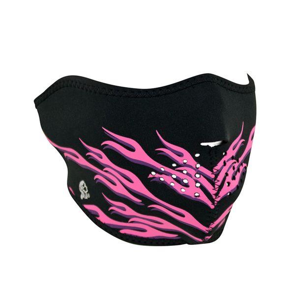 Neoprene half face mask - Pink Flames