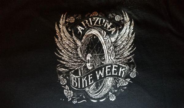 T-shirt - Arizona bike week 2018 winged wheel