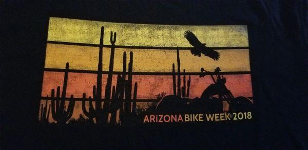 T-shirt - Arizona bike week 2018 Desert scene