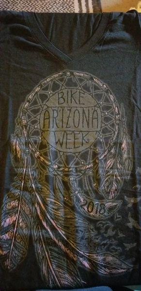 T-shirt-Ladies Arizona bike week 2018