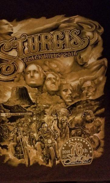 T-shirt- Sturgis Black Hills 2016