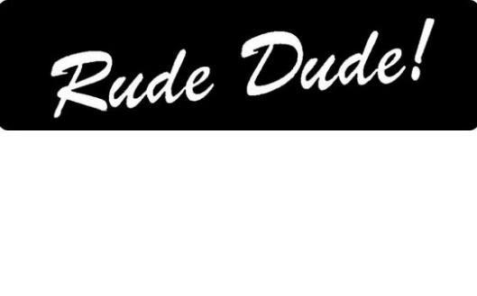 Helmet sticker - Rude dude