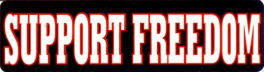 Helmet sticker - Support Freedom