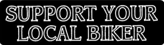 Helmet sticker - Support your local biker