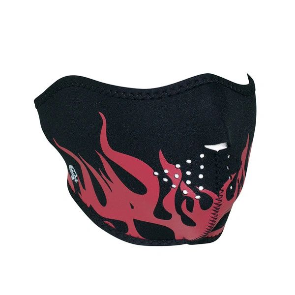 Neoprene half face mask - Red Flames