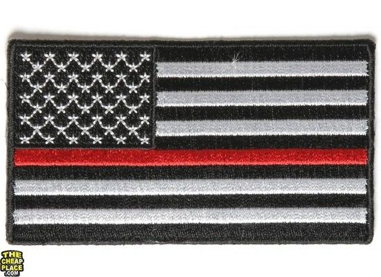 USA flag with red stripe