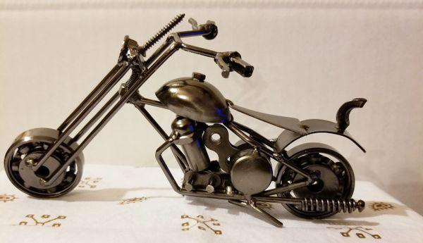 Metal motorcycle bronze