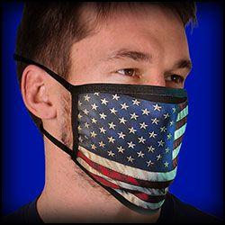 Face Mask -Covid - 19 USA flag