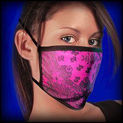 Face Mask -Covid - 19 Pink paisley